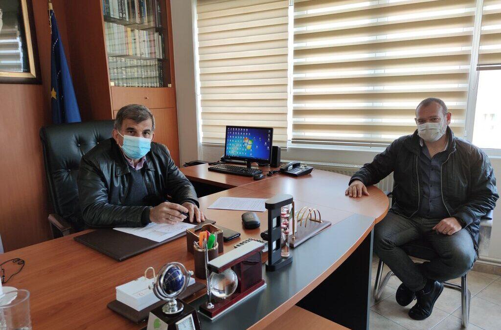 Συνάντηση εργασίας ανάμεσα στο Δήμαρχο Αμαρίου Παντελή Μουρτζανό και τον Περιφερειακό Σύμβουλο Ρεθύμνου Θέμη Κωνσταντινίδη