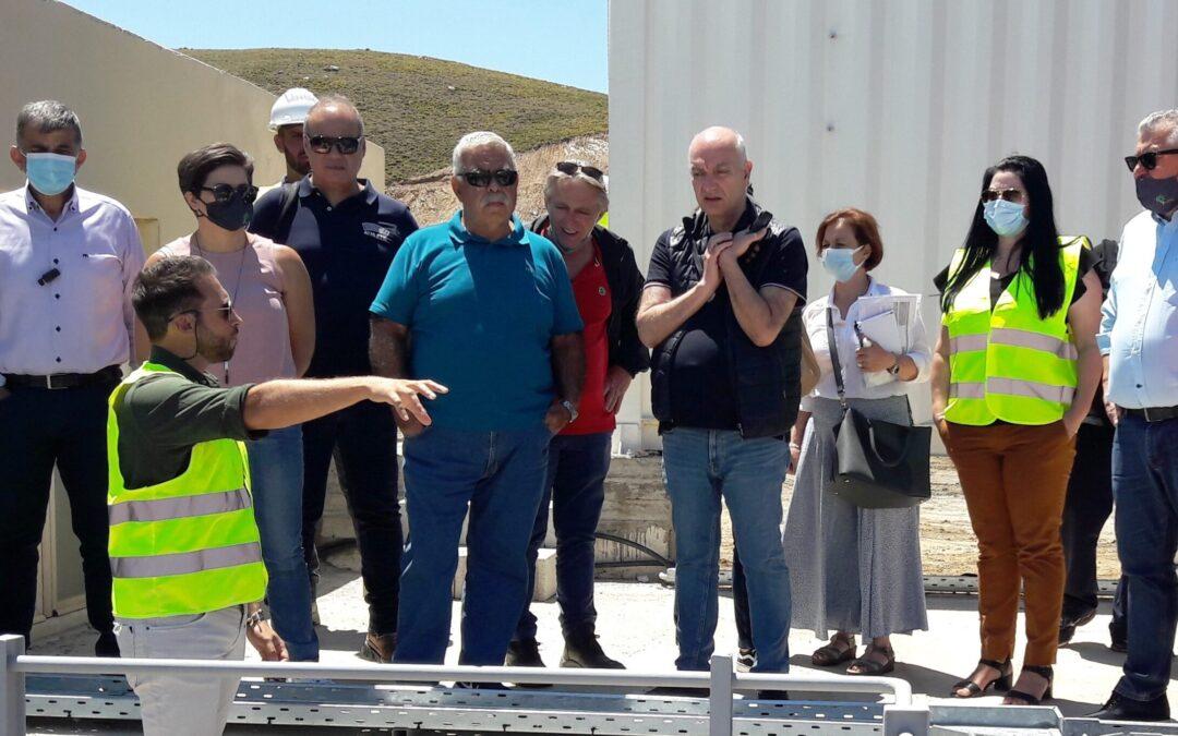 Σε τροχιά ολοκλήρωσης οι εργασίες για την κατασκευή της Μονάδας Επεξεργασίας Απορριμμάτων και του ΧΥΤΥ Αμαρίου