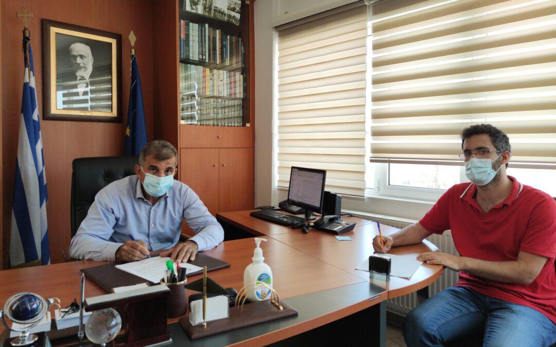 Υπογραφή δύο συμβάσεων για έργα ευστάθειας και αντιστήριξης πρανών δημοτικής οδοποιίας