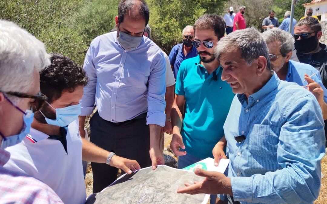 Στο Αμάρι κλιμάκιο του υπ. Υποδομών για το Φράγμα του Πλατύ Ποταμού και τις λιμνοδεξαμενές σε Γερακάρι – Ελένες